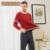 Qianxiu pijamas para homens 95% de algodão puro cor de costura com decote em v botão modificar pijama dos homens populares