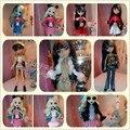 Подлинная разнообразие цвета стиля для monster high одежда девушки кукла дух кукла платье костюмы аксессуары