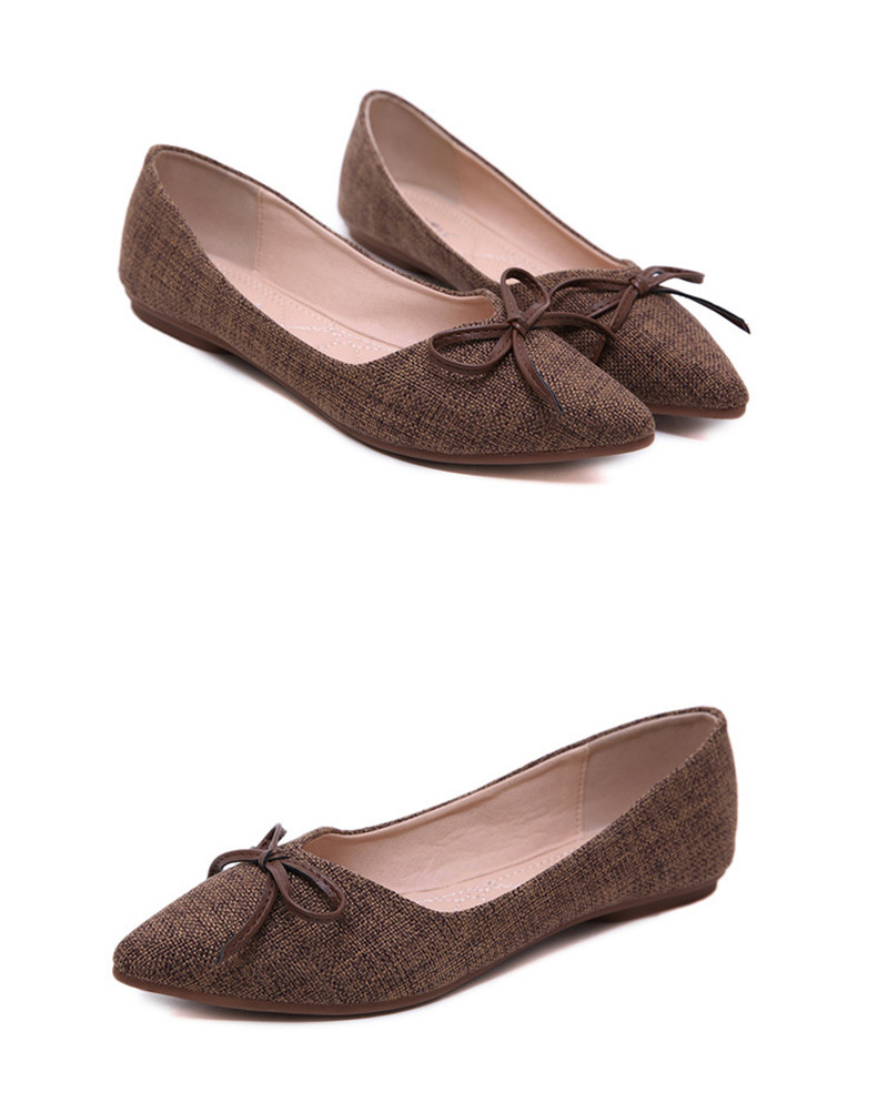Women Ballerinas Flats Fashion Bowtie Shallow Mouth Slip-on Women Flats Concise Ladies Casual Flat Shoes Ballet Flats For Women (18)
