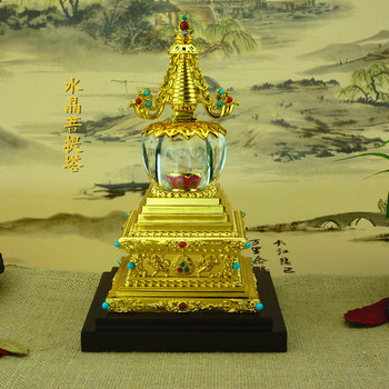 Religious activities new crystal Bodhi tower medium stupa Buddhist supplies wholesale manufacturers Tantric ornaments