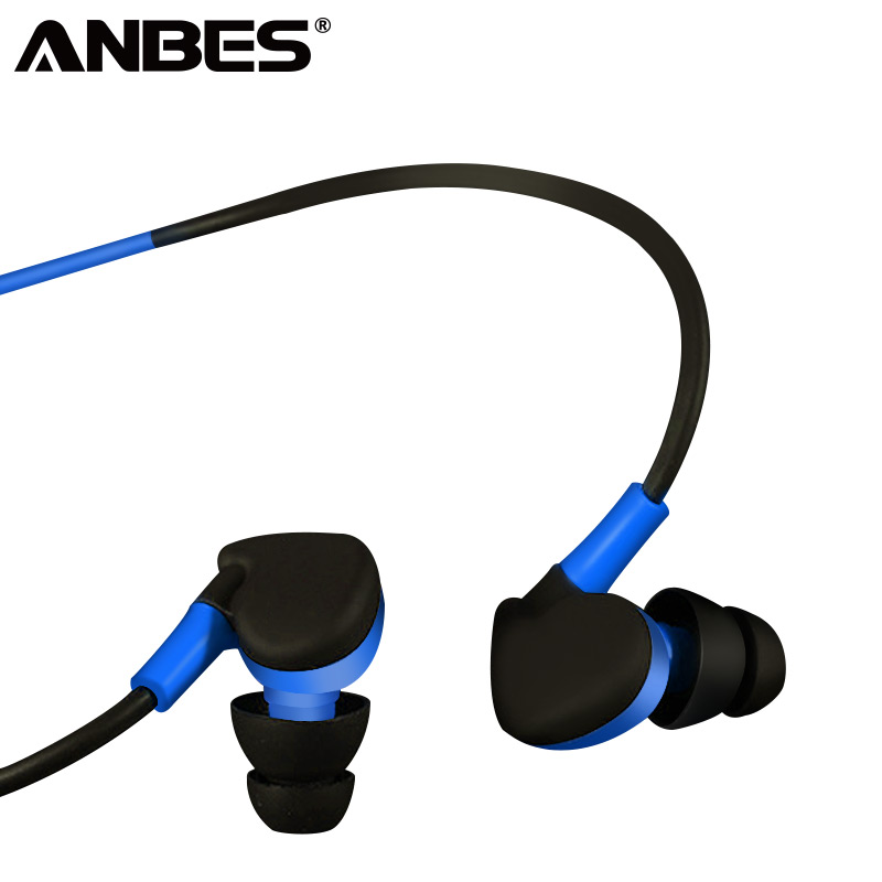 ANBES Wired Headphones In-ear Earphones Bass Stereo Headset 3.5mm Earpiece with MIC for Android PC Xiaomi Sport Phone Earbuds