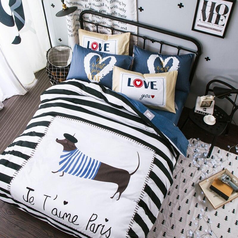hot 4pcs 100cotton 3d bedding set bed linen duvet cover fitted sheet pillowcases full queen size