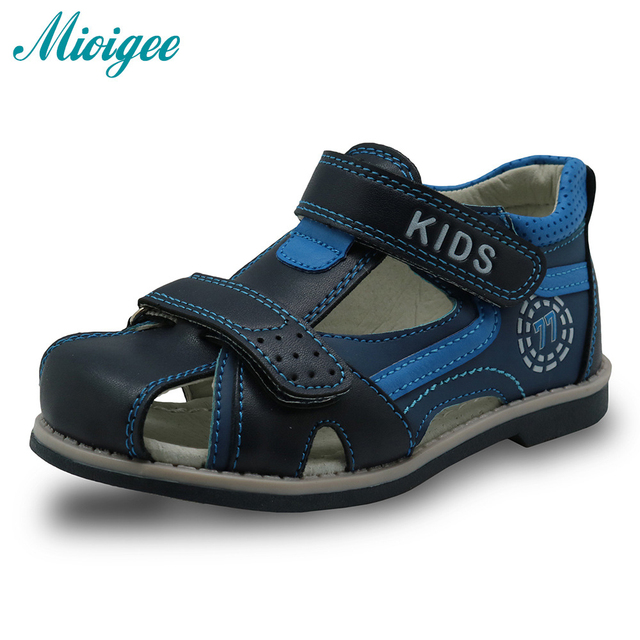 e3e956da4e Mioigee 2019 New Children Sandals Summer Kids Sandals Boys Sport PU Leather  Little Boys Sandals Shoes Toddler for boy #25-30