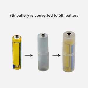Image 2 - 4 pces aaa para aa tamanho bateria conversor adaptador baterias titular caso durável switcher
