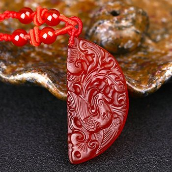 Lovers Pair Fine Jewelry Red Agate Necklace6