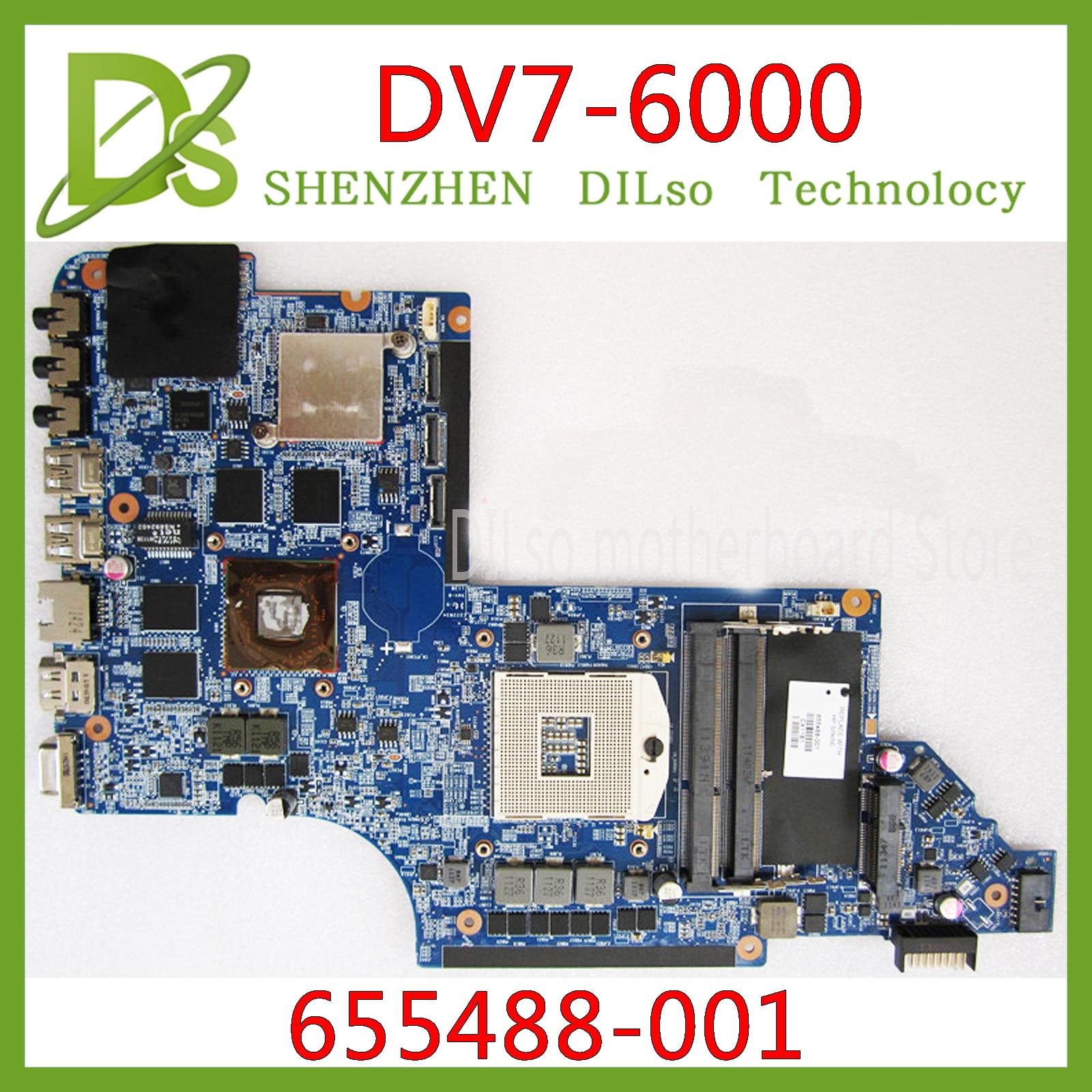 KEFU DV7-6000 Motherboar 655488-001 For HP Pavilion DV7 DV7-6000 655488-001 Original TEST MOTHERBOARD