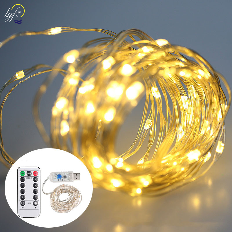 LYFS 200 LED String Lights Battery Power Dimmable Waterproof Decorative Lights For Bedroom Patio Garden Yard Parties Garland in LED String from Lights Lighting