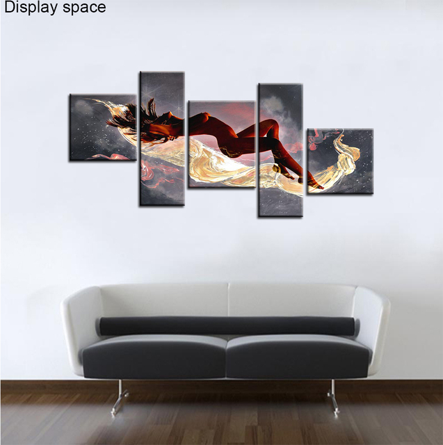2017 New Arrival No Portrait Cuadros Wall Art Women Paintings Sea Painting Bedroom Walls Canvas