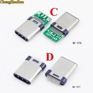 Image 2 - ChengHaoRan DIY OTG USB 3.1 Kaynak Erkek jack Tak USB 3.1 Tip C Konnektör PCB kartı Fişleri Veri Hattı Terminalleri android