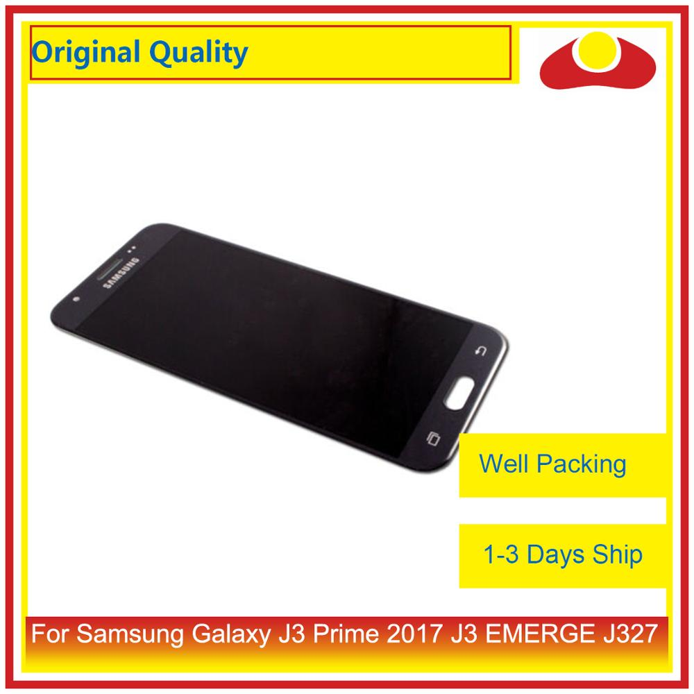 Image 3 - 50Pcs/lot Original For Samsung Galaxy J3 Prime J3 EMERGE J327 LCD Display With Touch Screen Digitizer Panel Pantalla Complete-in Mobile Phone LCD Screens from Cellphones & Telecommunications