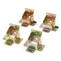 MTGATHER 4pcs Iron Folding Table Leg Brackets Foldable Self Lock Fold Feet For Folding Table Chair