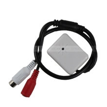 Security Wide Range Adjustable Covert CCTV Microphone Mic RCA