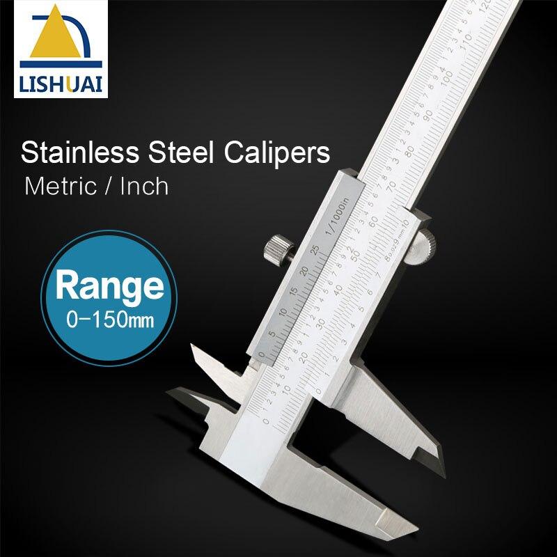 0-150mm Inch/Metric Integral Precise Stainless Steel Vernier Caliper Gauge Micrometer Professional Measuring Tools стоимость
