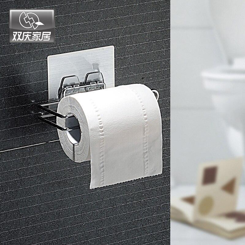 Wall Mounted Type Toilet Paper Holder Metal Toilet Paper Roll Storage <font><b>Towel</b></font> Racks Kitchen Shelf Bathroom Shelf