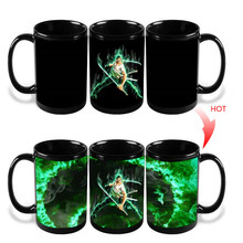 Anime Coffee Cup Mug One Piece Luffy Zoro Ace Hot Changing Color Heat Reactive Tea Milk Cup Ceramic Sailing Drinkware