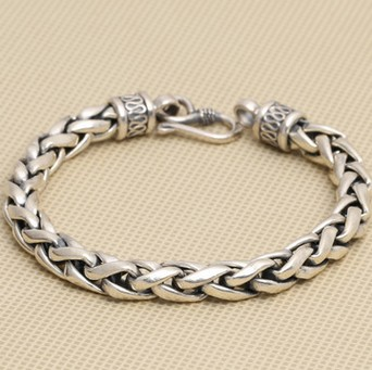 925 silver bracelet men 8mm 21cm long mens bracelets new arrival 925 silver bracelet men mens bracelets