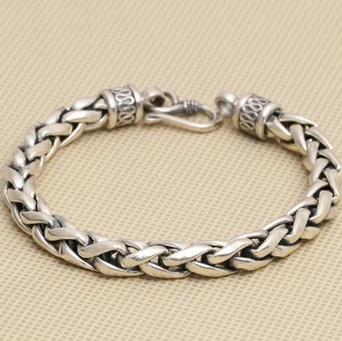925 silver bracelet men 8mm 21cm long mens bracelets 925 silver bracelet men friendship bracelets 20cm mens jewellery 11mm