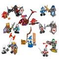 8 unids/lote nuevo nexo caballeros futuro escudo guerrero nexus juguetes embroma el regalo de bloques de construcción del castillo compatible con lepin