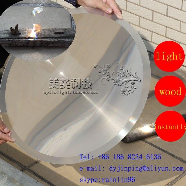 Diamètre de lentille de Fresnel d'énergie solaire 490mm longueur focale 540mm, condenseur de lumière élevée livraison gratuite