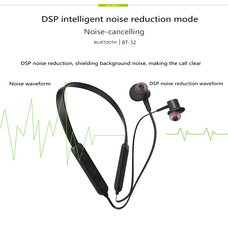 BT32 Sports Bluetooth Earphone Running Fitness In ear Wireless Bluetooth Earphone Earbuds for Iphone Android Phone in Bluetooth Earphones Headphones from Consumer Electronics