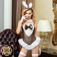 Sexy High Quality Bunny Girl Cosplay Lingerie Set Erotic costume woman sex uniform sleepwear maid underwear role play game wear