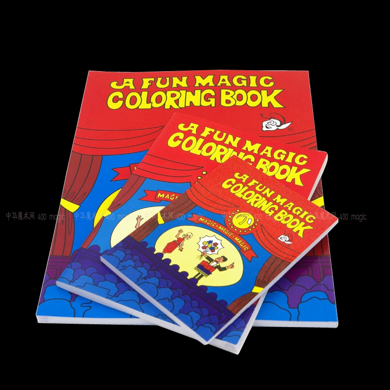A Fun Magic Coloring Book Medium Size TricksMentalismStage PropsCardMagic AccessoriesGimmicksClose Up In Tricks From Toys Hobbies