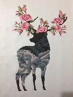 9192 5d Diy Diamond Embroidery Triptych Round Partial Special Shaped Diamond Painting 3pcs Diamond Painting Deers