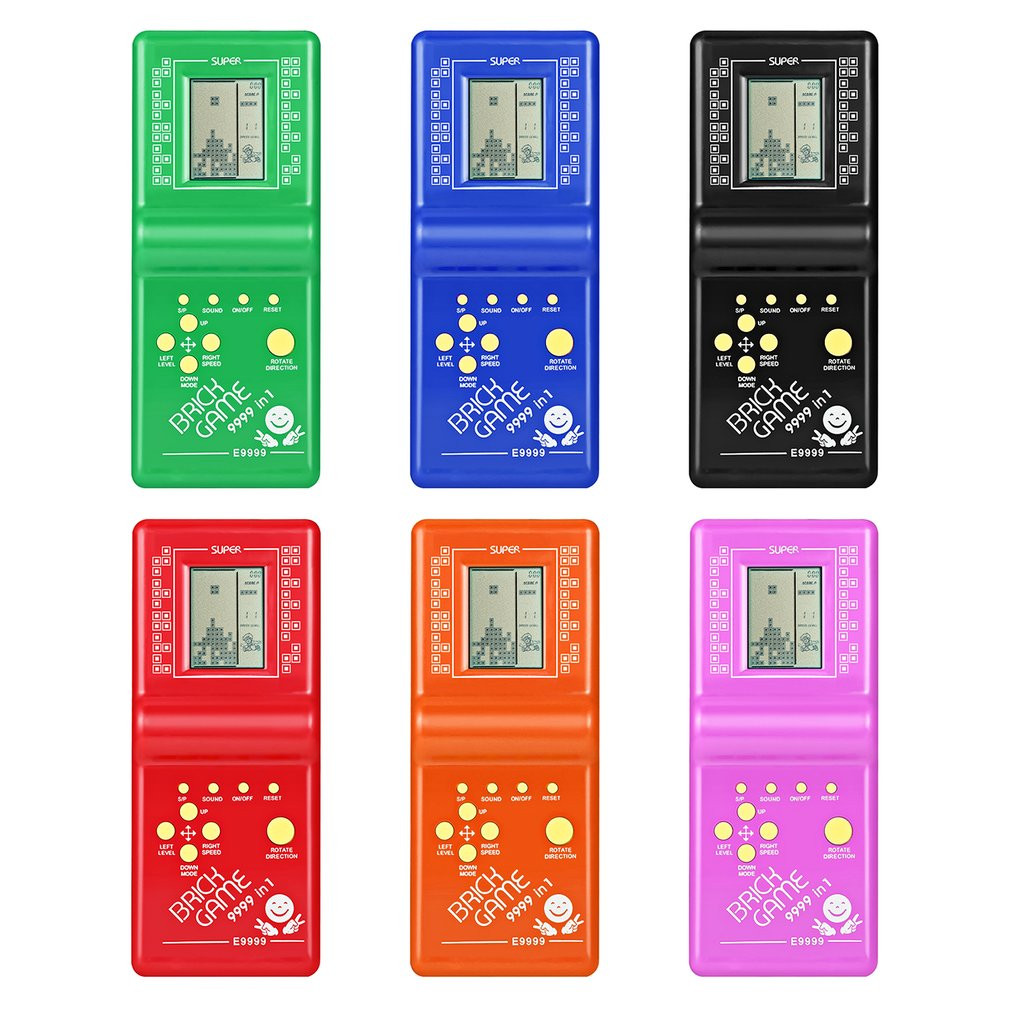 OCDAY Classic Handheld Game Machine Tetris Brick Game Kids Game Machine with Game Music Playback without Battery Electronic Toys ...