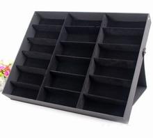 Бесплатная доставка 18 Cell Солнцезащитных Показать Хранения Организатор Box Контейнер