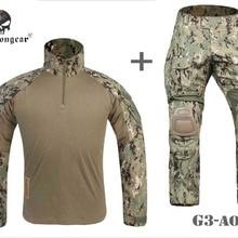 Airsoft BDU Gen3 боевая униформа EMERSON тактическая рубашка и брюки наколенники AOR2 EM8596 EM9351AOR2