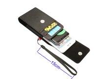 Vertical Horizontal Strap Belt Clip Dual Mobile Phone Leather Case Card Pouch For Motorola Moto E4