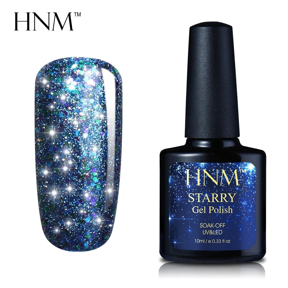 10 ML HNM הכוכבים בלינג הקבוע למחצה לכה לק לכה 30 צבעים הכוכבים בלינג Stamping נייל DIY אמנות Gelpolish