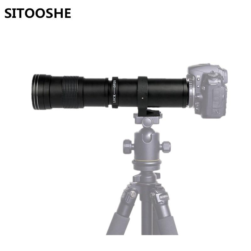 420 800mm F/8.3 16 Super Telephoto Lens T2 Ni kon T2 NEX T Mount Manual Zoom Lens for Canon Nikon Sony Pentax DSLR Camera
