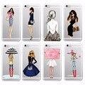 Elegante princesa longas pernas de compras bonito alto guarda-chuva menina phone case capa para iphone 4 5 6 7 s plus se 5c