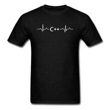 Programming Heartbeat C Lauguage Hacker T Shirt Science Programmer Jave Men Summer Short Sleeve Cotton Tshirt Unique Tops & Tees
