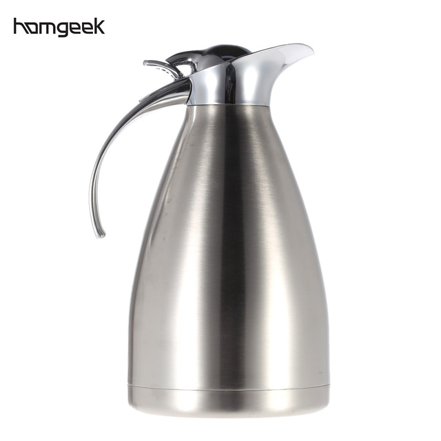 1 5l Stainless Steel Double Wall Thermal Carafe Vacuum Insulated Coffee Pot Water Pitcher