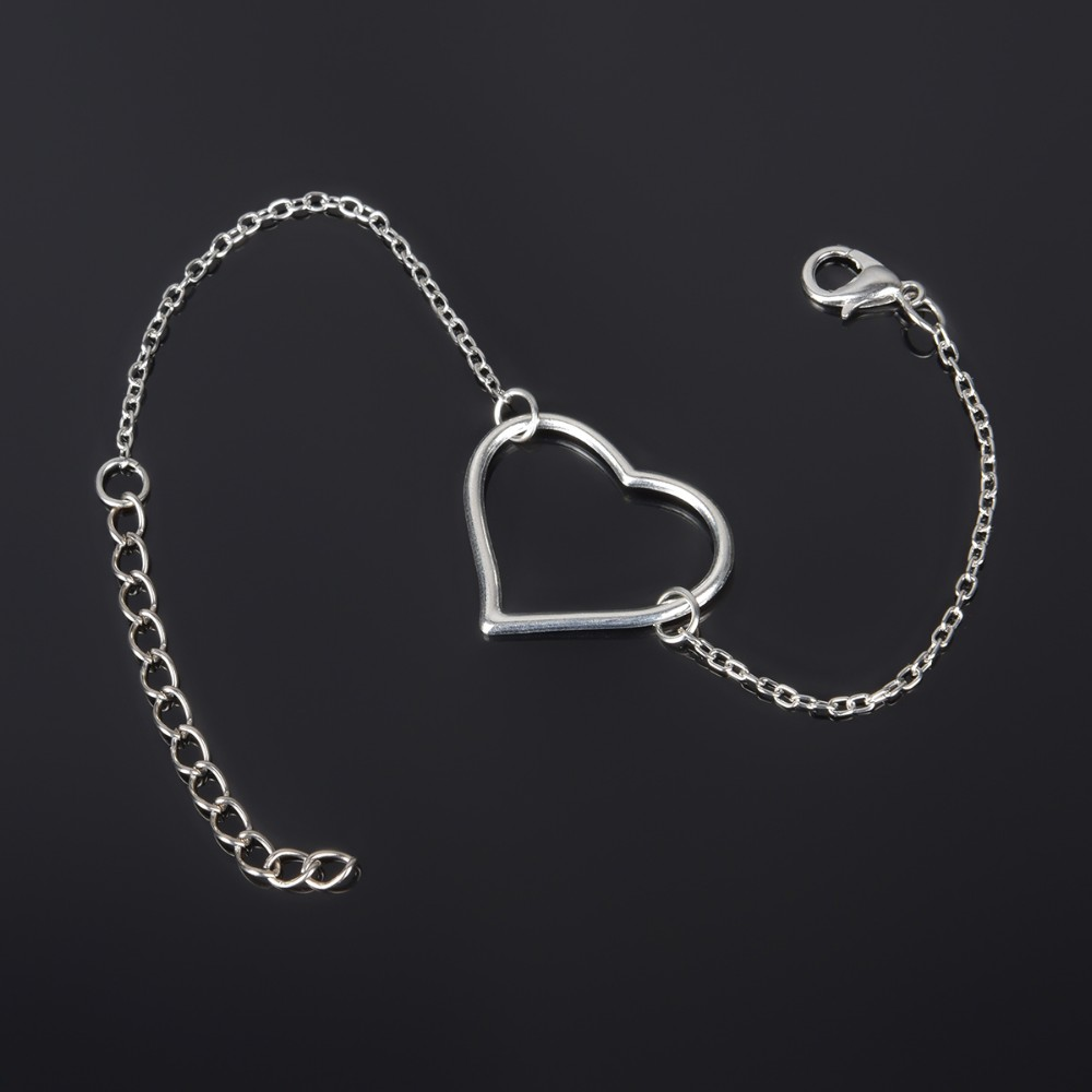 Simple Style Silver Plated Charm Bracelet Jewelry Gift Wedding Banquet Wholesale Top Quality 1 D2 2