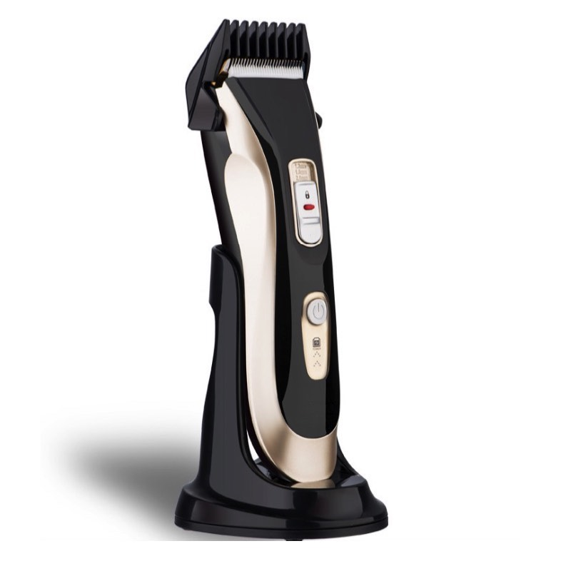 ФОТО Professional Electric Hair Clipper With Charging Base Rechargeable Ceramic Hair Trimmer Barber Haircut Beard To Trimer