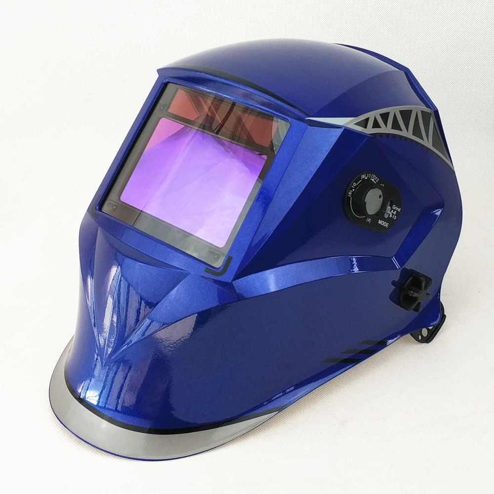 Maska do spawania 100*65mm 1111 4 czujniki szlifowanie DIN 3/4-13 MMA MIG/MAG TIG CE/UL/CSA/AS Cert Solar automatyczne przyciemnianie kask spawalniczy