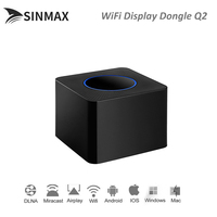 2019 New Q2 Wireless WiFi Display Dongle Receiver 1080P HD TV Stick Airplay Media Streamer Adapter Media for Android TV stick