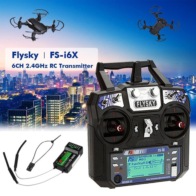 Contrôleur émetteur d'origine Flysky FS-i6 FS I6 2.4G 6ch RC récepteur FS-iA6 ou FS-iA6B pour avion hélicoptère RC quadrirotor
