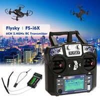 Original Flysky FS-i6 FS I6 2.4G 6ch RC émetteur contrôleur FS-iA6 ou FS-iA6B récepteur pour RC hélicoptère avion quadrirotor