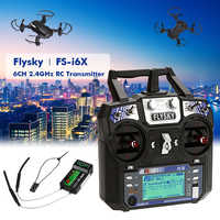 Original Flysky FS-i6 FS I6 2,4G 6ch RC transmisor controlador FS-iA6 o FS-iA6B receptor para RC helicóptero avión Quadcopter