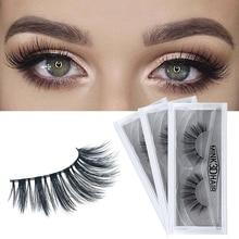 Human Hair thick fasle eyelashes 3D mink volume extension false