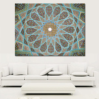 QCART Home Decor Canvas Wall Art Roof Decoration Oil Painting Canvas Print Wall Pictures For Living