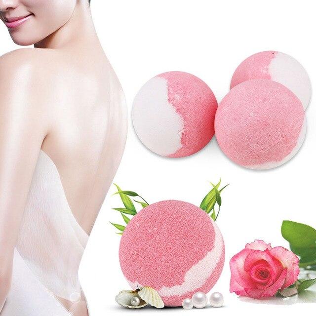 Bath Salt Bombs Balls Whitening Moisture Essential Oil Body Scrubrose Oil Bath Ball Bomb for Home Bathroom Spa Bath