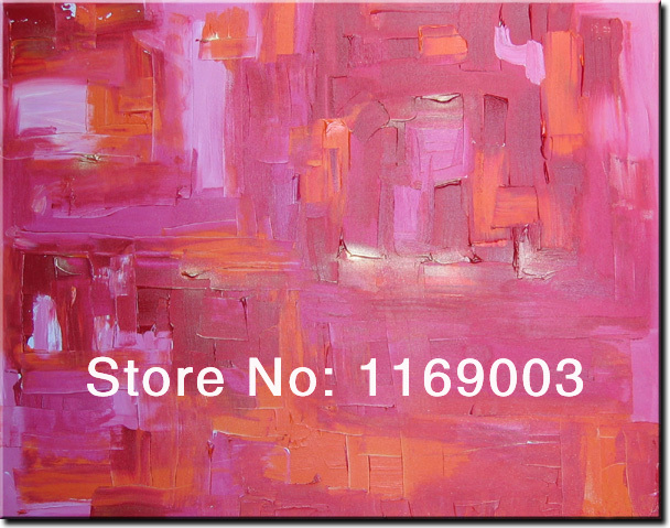 large Abstract modern wall art cheap font b knife b font paint art handmade oil painting