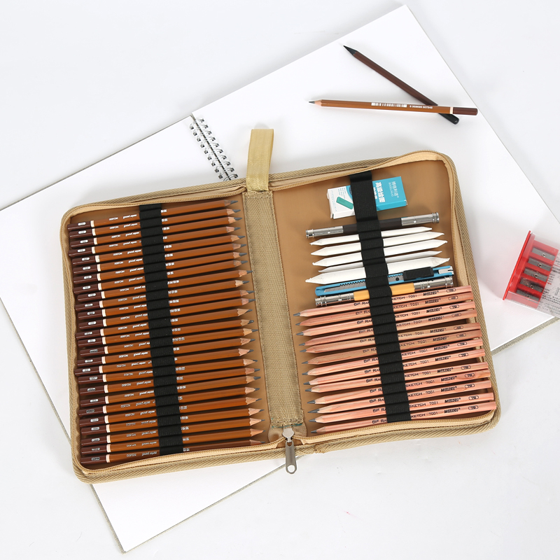BGLN Canvas Storage Pencils Pouch Bag 36/48 Holes Folded Brush Case With  Zipper Cartucheras Para Lapices Pocket Art Supplies In Painting Canvas From  Office ...