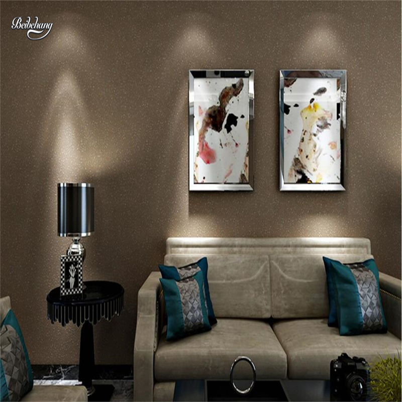 beibehang Nonwovens Pure color plain wallpaper Living room bedroom mud wall texture bump wall paper beige white coffee color beibehang nonwovens healthy fashion