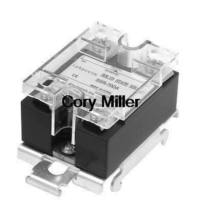 цена на DC 3-32V 70A Temperature Control DIN Rail Mount SSR Solid State Relay SSR-70D